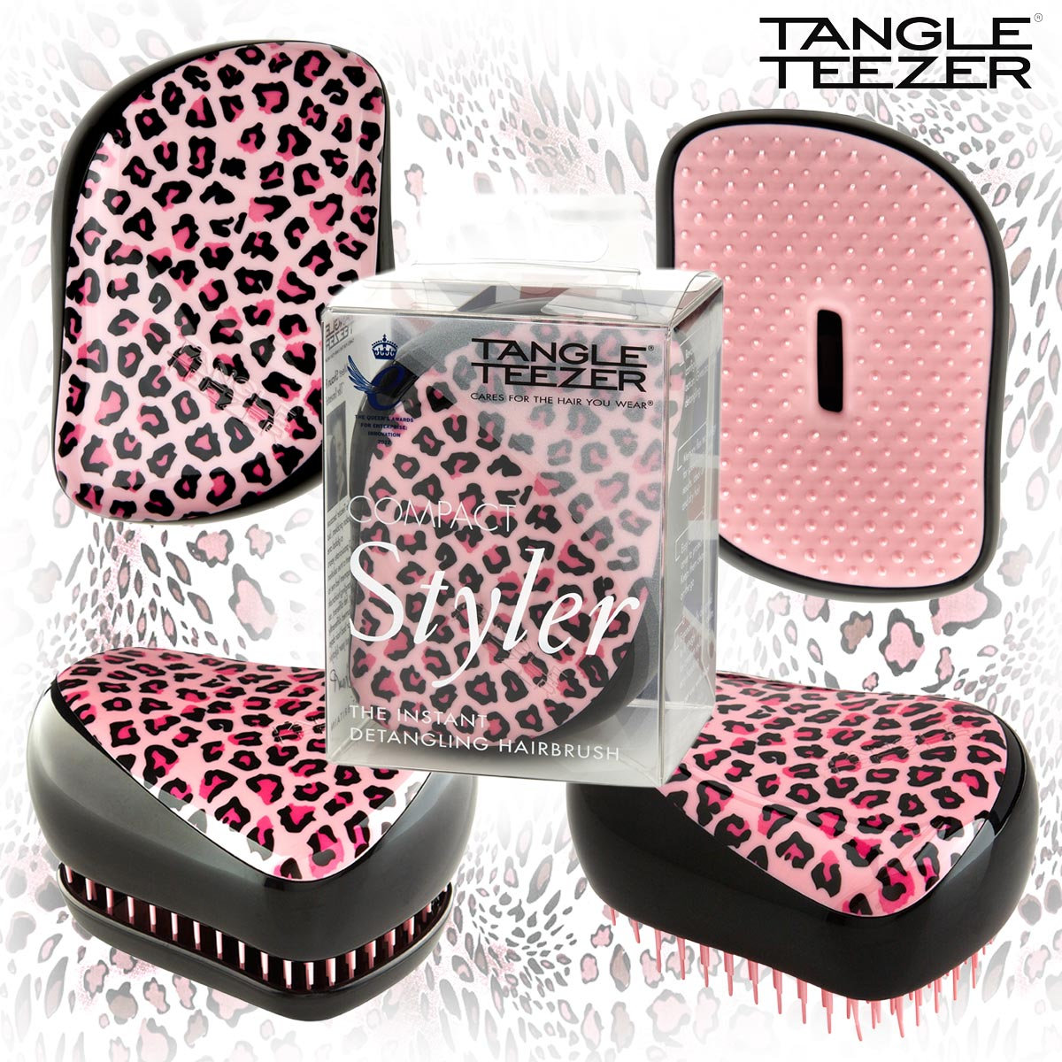 Расческа Tangle Teezer Compact Styler Pink Kitty - LEROSE.RU. Фото N4