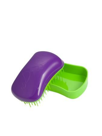 Dessata Hair Brush Mini Purple-Lime