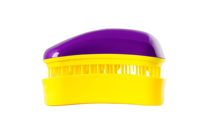 Dessata Hair Brush Mini Purple-Yellow